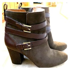 Louise et Cie Brown Moto Ankle Boots NWOT